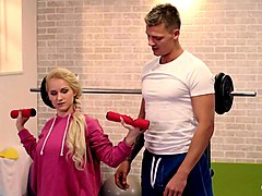 relaxxxed - czech beauty rossella visconti gets fucked by her coach at the gym