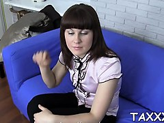 playgirl comes for a casting and seduces a horny cameraman