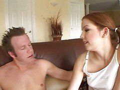 Young Redhead Seduces Man