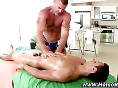 Gay straight guy massage seduction