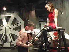 Dude Is Tied Up And This Babes Slave As She Abuses And Tortures Him