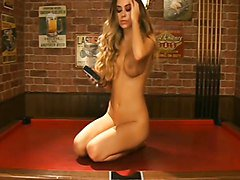 lori buckby - pussy on a pool table