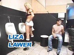 Shemale Threesome In A Toilet