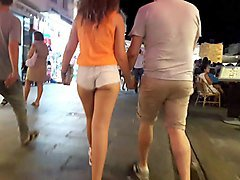 turkish young girl with nice shirt and legs with boyfriend:)