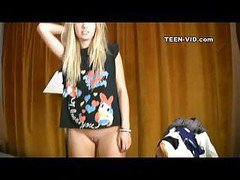 18yo Blond Taylor First Video Casting