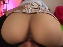 japanese av model with big butt rides cock with hairy fish taco