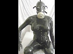 rubber doll in latex for first time