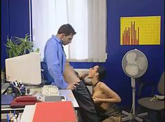 Beautiful secretary fucking at the office