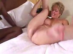 Mature wife gets hammered by a black dude with a big black cock