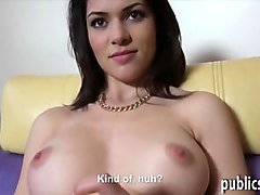 czech girl flashes her big tits and gets screwed for cash