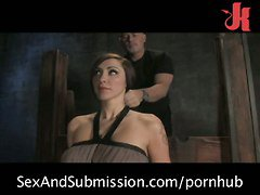 Busty Slut Tied Up Gagged And Fucked