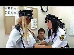 Big Titted Mall Cops Shyla And Lezley Extort Sexual Favors From Shoplifter