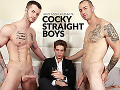 Mark Long & Quentin Gainz & Michael Del Ray in Cocky Straight Boys XXX Video - NextdoorWorld
