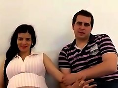 Spanish couple wife pregnant and boy with big cock