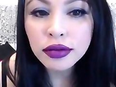 Purple Lipstick Kissing JOI