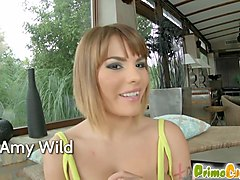 PrimeCups Amy Wild is a truly wild chick with big natural tits and a crazy bubble butt She gets tit fucked and pounded before a big tit cumshot