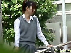 japanese teen pees n rubs