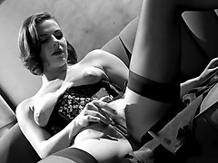 bobbi s masturbates in a corset and stockings