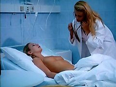 adorable and hot white european chicks on the bed in softcore action