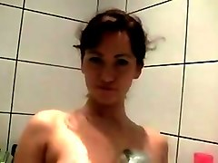 Sexy czech model recording herself