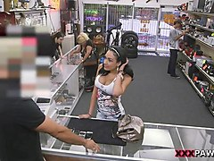 big titty latin girl railed by pawn guy