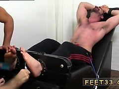 bearded gay hunk gets tied up and used in this fetish session
